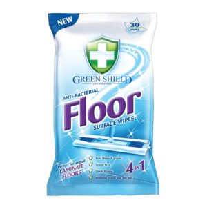 Green Shield Anti Bacteria Floor Surface Wipes 24 Extra Large Wipes
