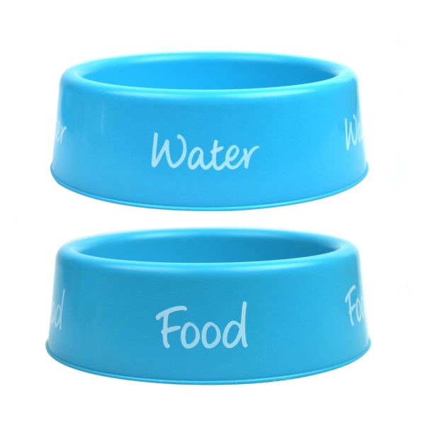Plastic Dog Bowl Pet Feeding Bowls Food Water Small 500ml Capacity 3 Colours