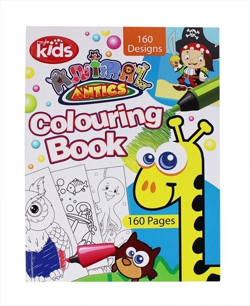 Colouring Book For Kids Drawing Artwork Design Pass Time Fun Colourful 160 Pages