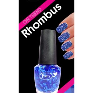 Pretty Rhombus Nail Varnish - Blue (15ml Bottle)
