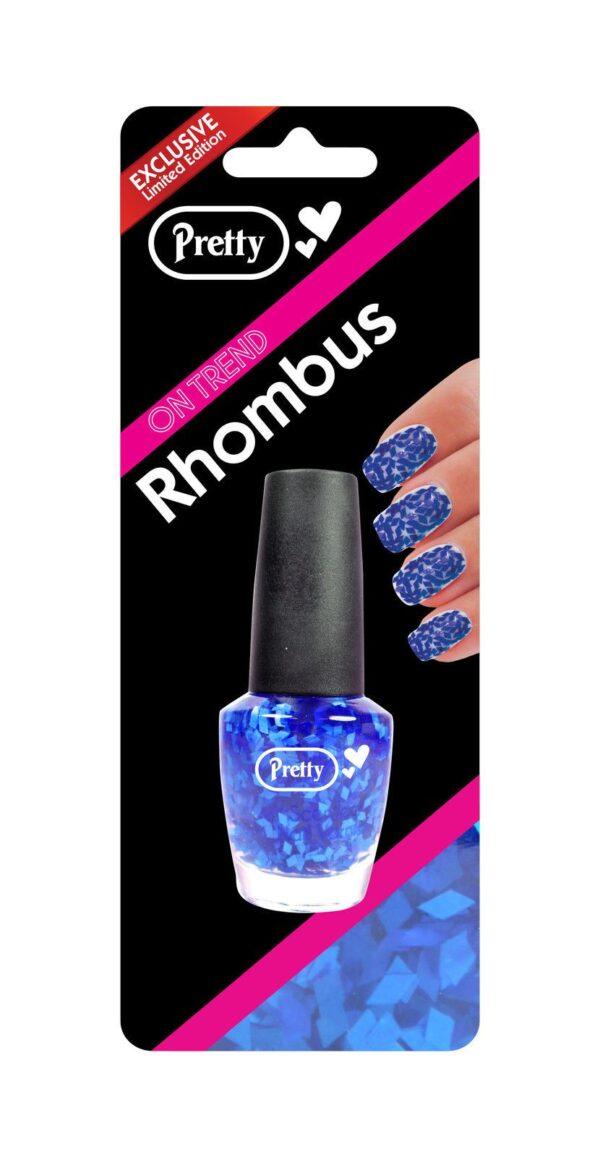 Pretty Rhombus Nail Varnish - Blue (15ml Bottle)