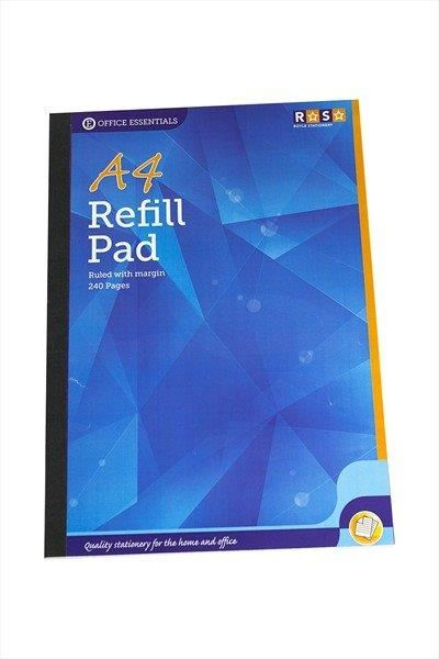 A4 Refill Pad Hole Punched Margined Paper 240 Pages office School Home Writing