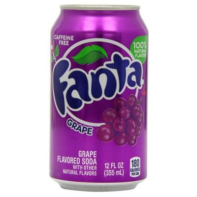 FANTA GRAPE SODA CAN 355ML