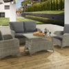 Colorado Grey 4pc lounge set with Dallas fabric