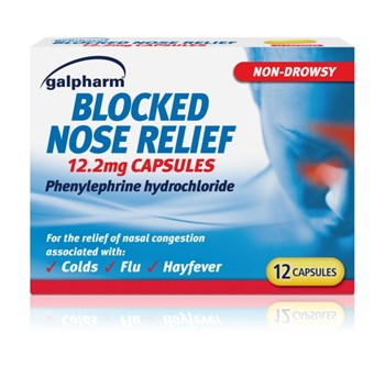 Galpharm Blocked Nose Relief 12.2mg Capsules