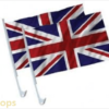 ROYAL WEDDING UNION JACK TWIN PACK CAR FLAGS