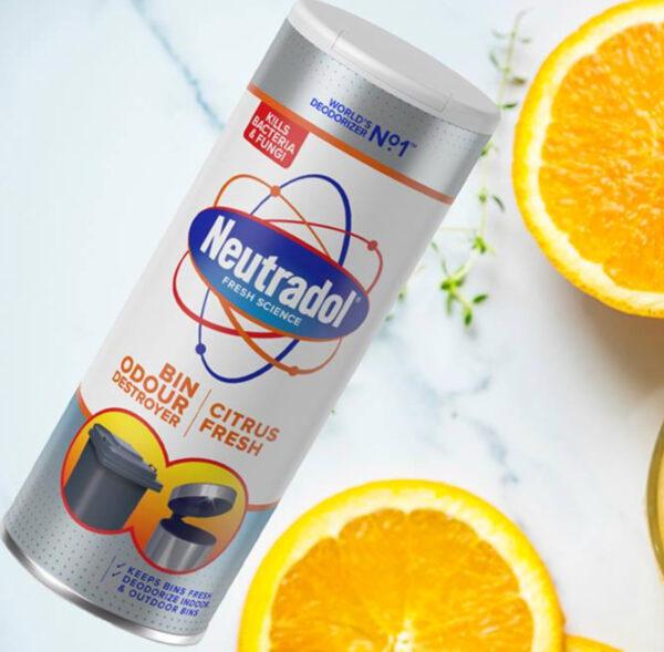 Neutradol new citrus fresh bin freshener 400