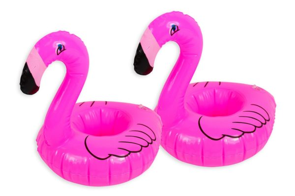 Inflatable Drinks Holder Flamingo Cup Holder Swimming Pool Summer Can Holder