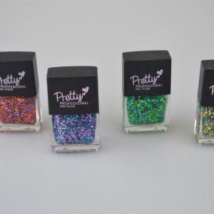 Pretty Professional Glitter Bomb Collection | 4 x 12ml Bottles Nail Polish