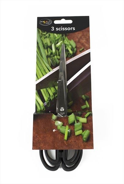Royle Home Set of Three Kitchen Scissors Stainless Steel Three Sizes