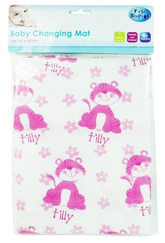 Baby Changing Mat Wipe Clean Ideal for Home or Travel 'First Steps'