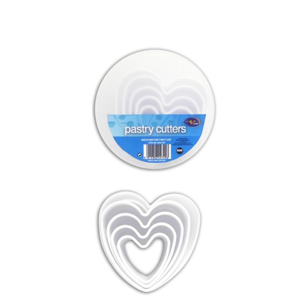 Royle 5 Piece Pastry & Cookie Cutters in Heart Shape