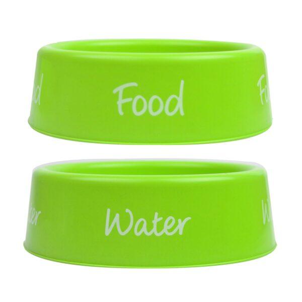 Plastic Dog Bowl Pet Feeding Bowls Food Water Small 500ml Capacity 3 Colours
