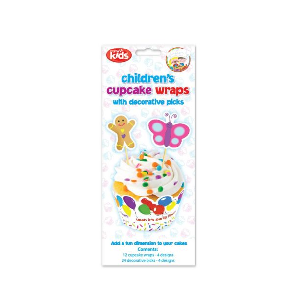 'We Can Cook' Children's Cupcake Wraps with Decorative Picks by Royle Kids