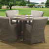 4 seat Tuscany Tan dining set Malvern fabric