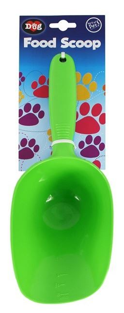Pet Scoop Food Dog Products Puppy Feeder Cleaning Shovel Green