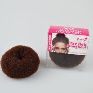 The Hair Doughnut by Pretty 80mm   Make the perfect bun in an instant!   Brown