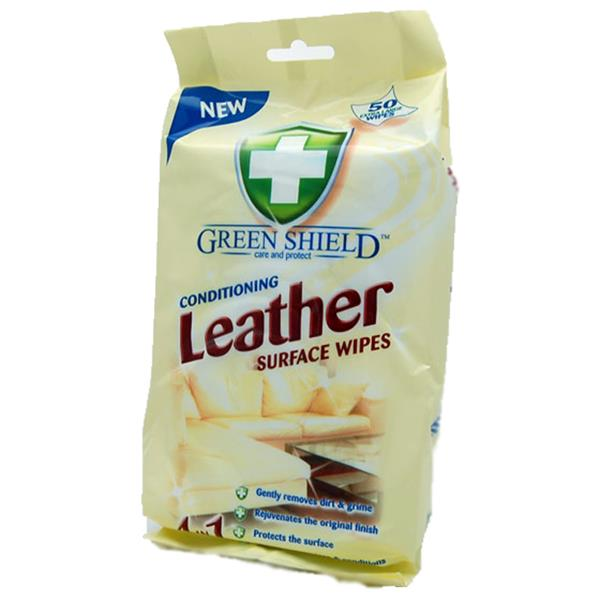 GREEN SHIELD CONDITIONING LEATHER SURFACE WIPES