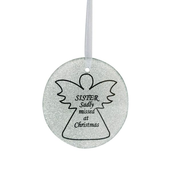 Sister Angel Tree Hanger 9cm Dia CHRISTMAS