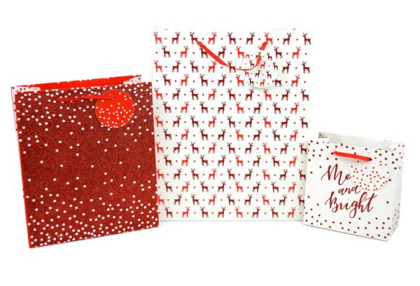 GIFT BAGS PACK OF 3 RED