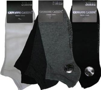 3 Pairs Mens Giovanni Cassini Trainer Liner Socks Colours May Vary !