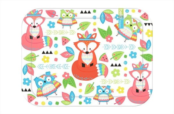 Melamine Serving Tray Drinks Parties BBQs Guests High Quality Cute Colourful Fox