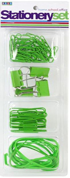 Paper Clip, Bulldog Clip & Elastic Band Set 4 Colours 'Royle Stationery'