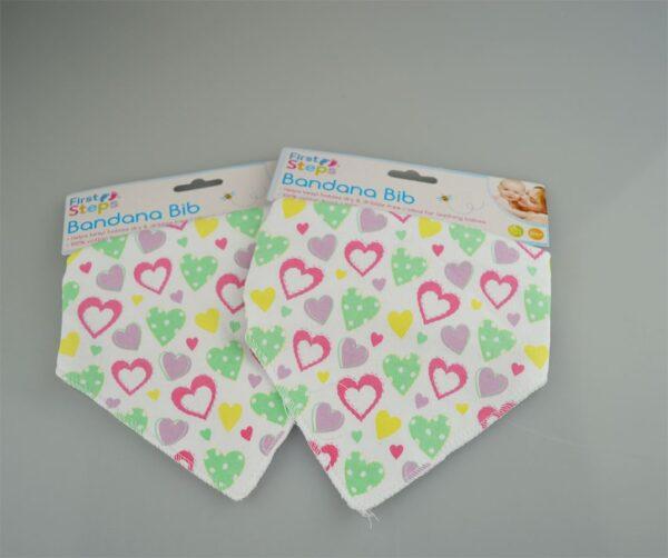 Pack of 2 Bandana Dribble Bibs in 3 Designs - Perfect for Teething Babies