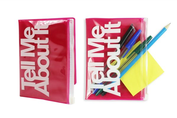 Note Book A6 With Zip Pocket & 'Tell Me About It' Logo 'Royle Stationery'