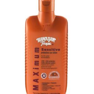 Hawaiian Tropic Sensitive Sun Lotion SPF 30 Water Resistant UVA & UVB Protection