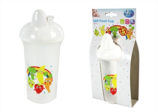 285ml Spill Proof Toddler Sipper Cup with Gimmie 5 Gang Design Tumbler