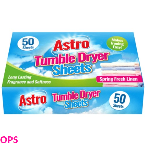 ASTRO TUMBLE DRYER SHEETS