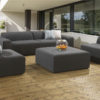 Adelaide 3 seater 4pc upholstery set and waterproof covers - Slate Fabric