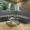 Albury 3pc Modular upholstery set with waterproof covers - Slate Fabric