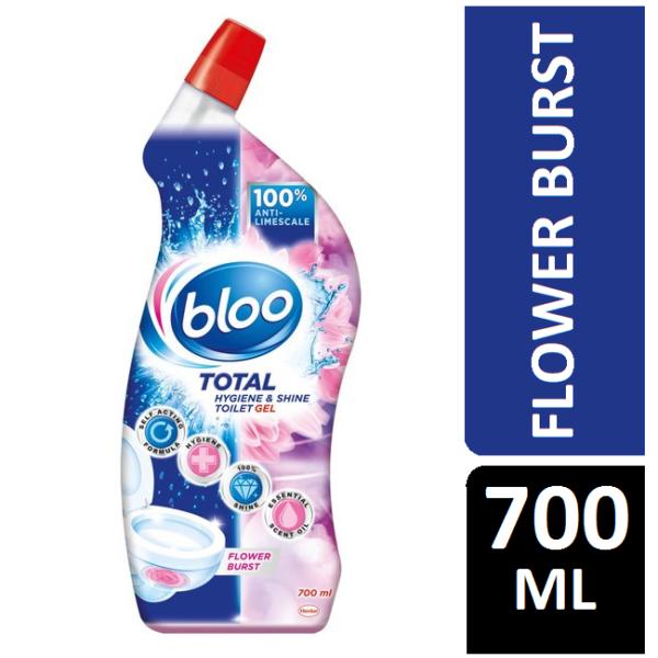 Bloo Total Hygiene & Shine Toilet Gel Flower Burst 700ml