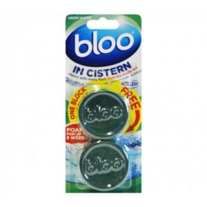 BLOO IN CISTERN LIME GREEN WATER 2 BLOCKS