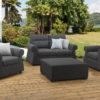 Byron 2 seater 3pc upholstery suite with a footstool / drinks tray and waterproof covers - Slate Fabric