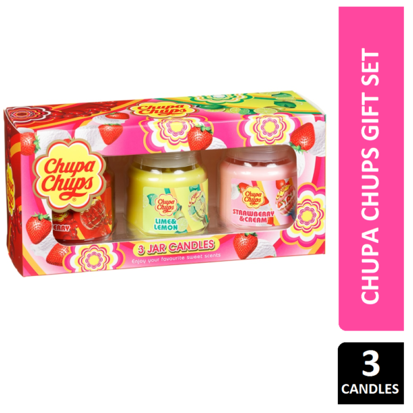 Chupa Chups 3 Jar Candles Gift Set