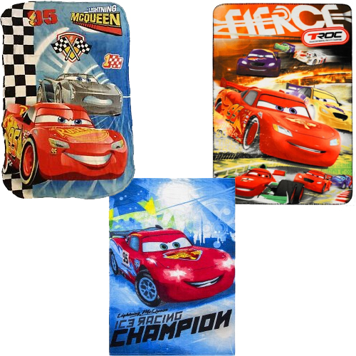 1 X DISNEY CARS FLEECE BLANKET DESIGN MAY VARY
