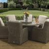 6 seat Clinton Mink Dining set with Malvern fabric