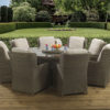 8 seat Clinton Mink dining set with Malvern fabric