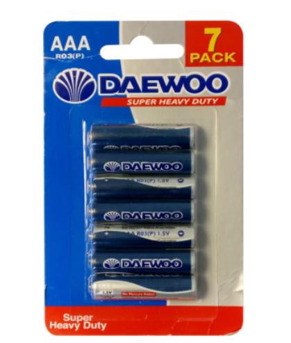 Daewoo AAA Battery 7pk