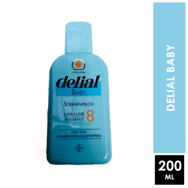 Delial Baby S.p.f 8 Water resistant 200ml
