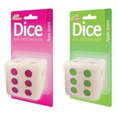 DICE CAR AIR FRESHENER ROSE OR APPLE SCENT
