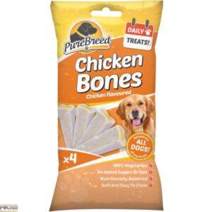 PURE BREED CHICKEN BONES 4 PACK CHICKEN FLAVOUR