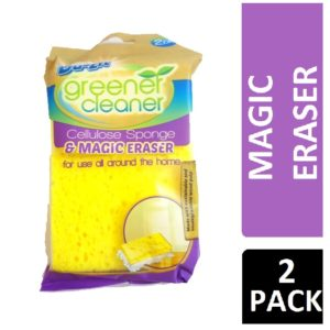DUZZIT GREENER CLEANER CELLULOSE SPONGE & MAGIC ERASER 2PK