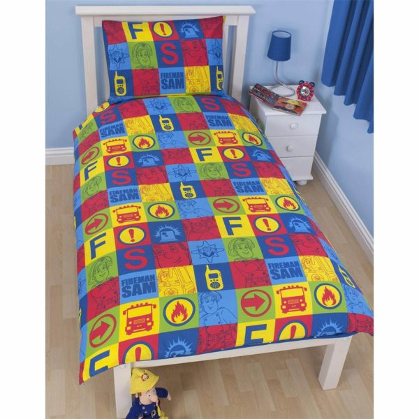 FIREMAN SAM SINGLE DUVET