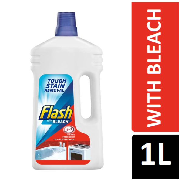 Flash with Bleach 3 in 1 Tough Stain Remover 1L