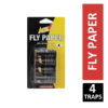Active Fly Paper 4 Non Toxic Traps