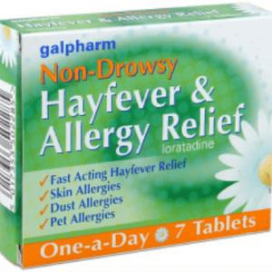 Galpharm NON-DROWSY ALLERGY & HAY FEVER RELIEF NON-DROWSY 7 TABLETS